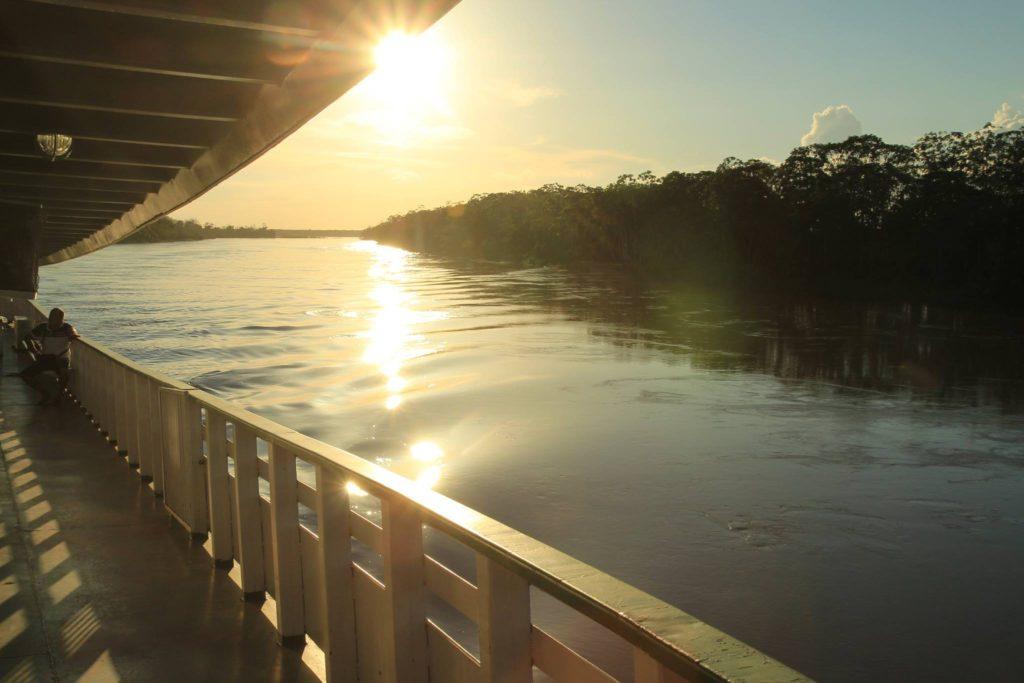 Tramonto sul Rio delle Amazzoni