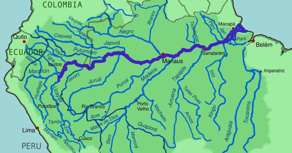 Mappa Rio delle Amazzoni