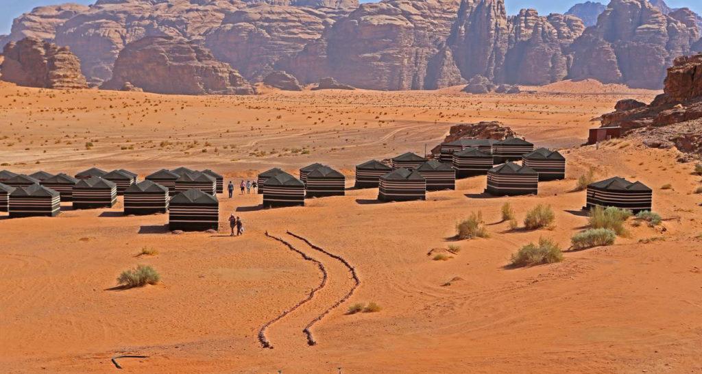 Campo tendato a Wadi Rum