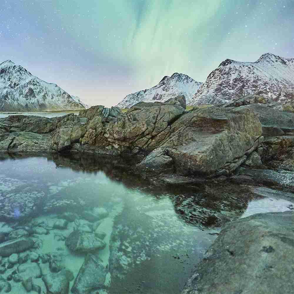 Isole Lofoten aurora boreale