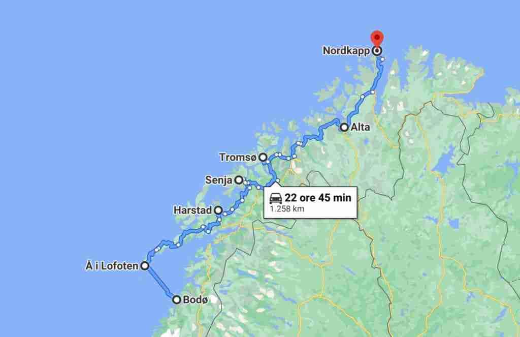 Itinerario Norvegia Capo Nord
