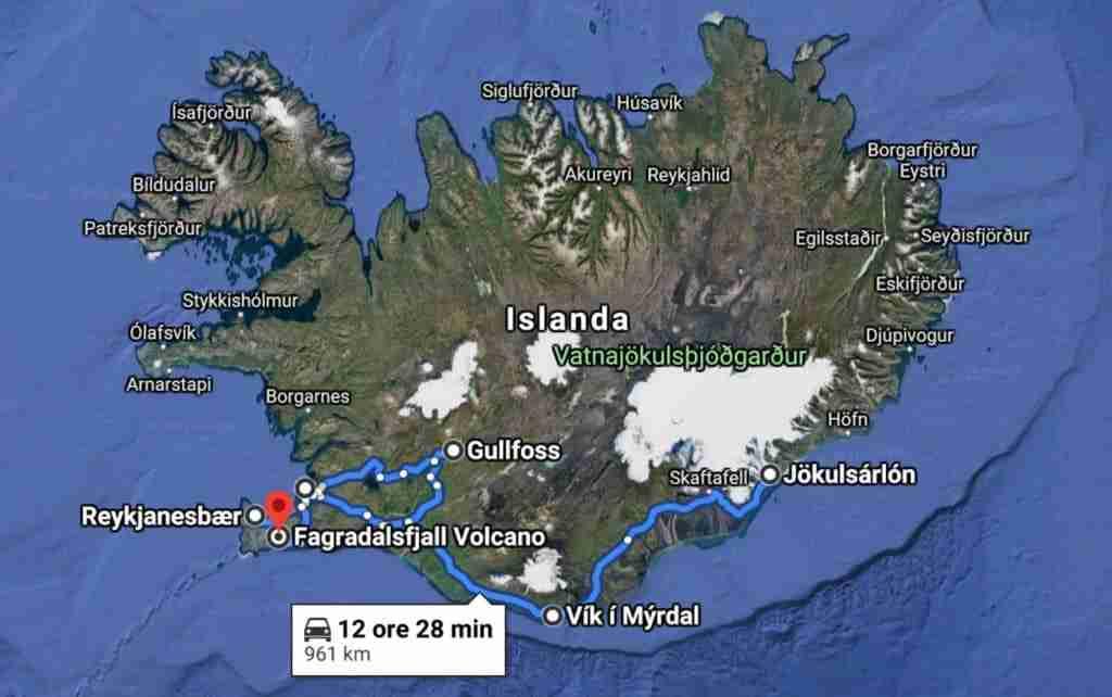 Itinerario Islanda meridionale