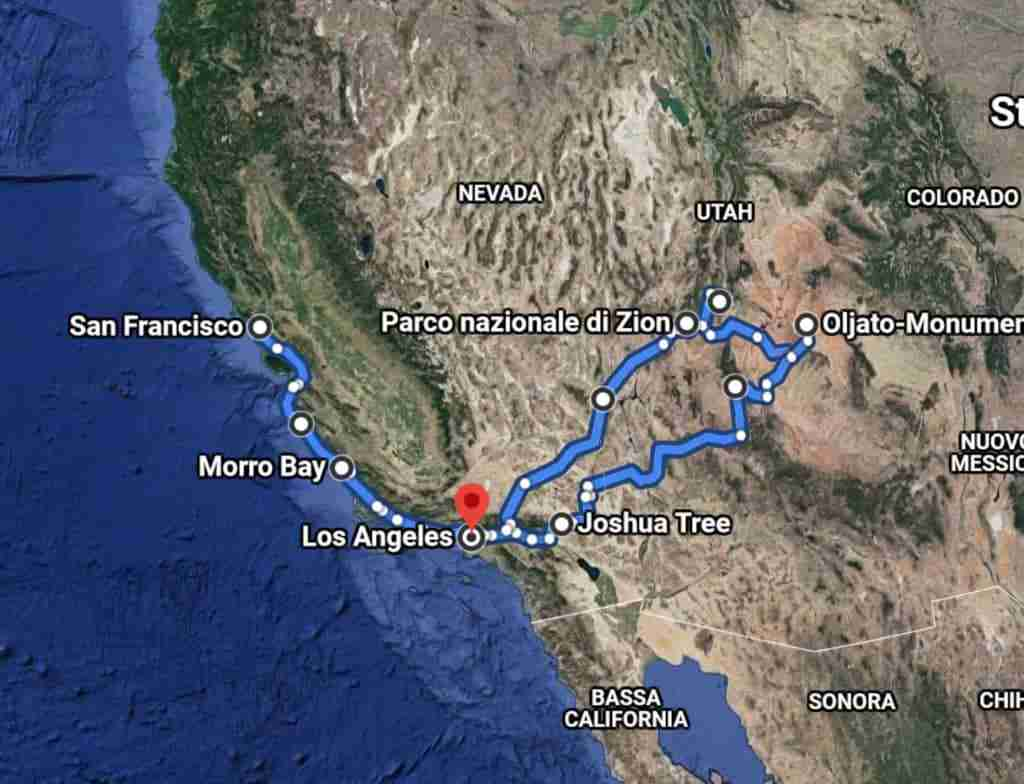 Itinerario USA on the road